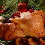 Whole roasted baked chicken