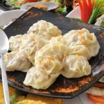 CHINESE STEAMED MEAT AND VEGETABLES RAVIOLI