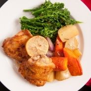 Chicken thighs with spinach and cheese recipe