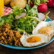 Hash brown potato nests with egg recipe