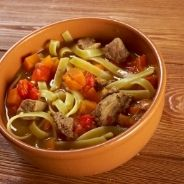 Oriental pasta with beef recipe