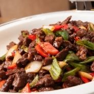 Sauteed Beef with Peppers and Onion recipe