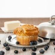 Butter cupcakes with blueberries recipe