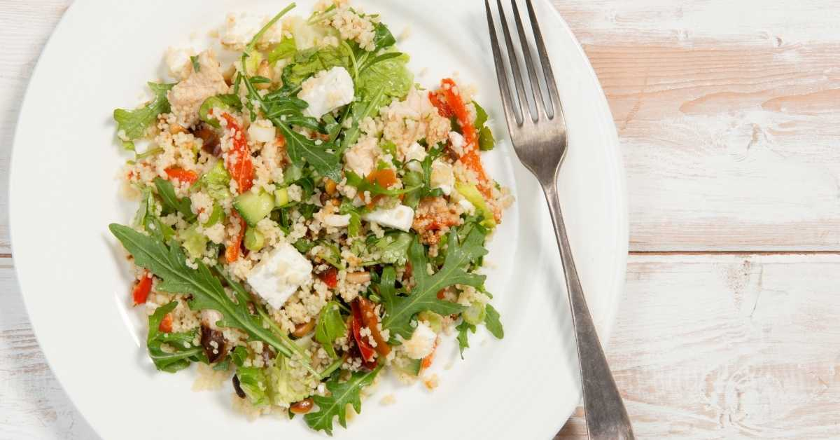 Gluten free cous cous with vegetables