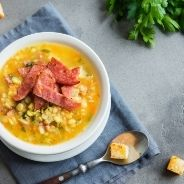 Slow Cooked Split Pea Soup with Ham recipe