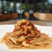 pasta with vegetables and almonds recipe