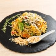 Chicken pad thai with rice noodle recipe