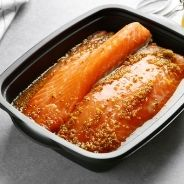 Salmon fillet with honey and mustard recipe